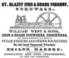 William West & Sons, St. Blazey Foundry: Werbeanzeige